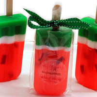 Set of 4 Juicy Watermelon scented Soap Pop Kids Party Favors