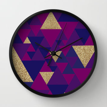 Lux Geo Wall Clock by Whitney Werner