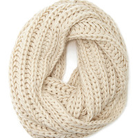 FOREVER 21 Chunky Knit Infinity Scarf