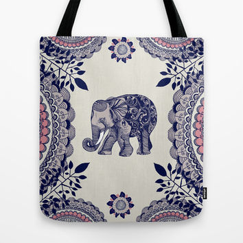 Elephant Pink Tote Bag by rskinner1122