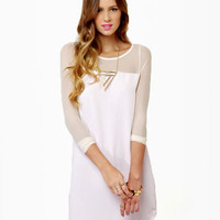 Meet Your Mesh Ivory Dress