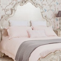 French Ladder Pink Bed Linen
