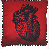 X-Ray Anatomical Heart Satin Pillow