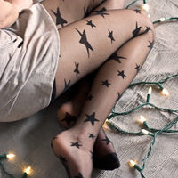 Sheer Star Tights