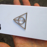 Harry potter Deathly Hallows white Iphone Case, Iphone 4 case, Iphone 4S case, WHITE case cover for Iphone 4, 4s, 4g