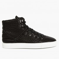 Filling Pieces Men's Black Mountain Boot Grained Leather Sneakers
