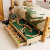 Underbed Play Table With Trundle Drawer