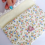 Romantic clutch Bird retro floral bag