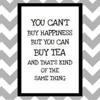 You Can&#x27;t Buy Happiness - Quote Art Print