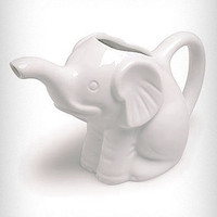 White Elephant Ceramic Creamer