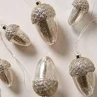 Sparkled Acorn String Lights by Anthropologie Silver One Size House & Home