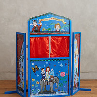 Wooden Puppet Theater by Anthropologie Red One Size Gifts