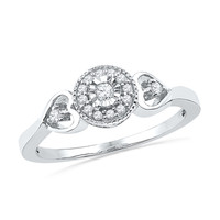 1/8 CT. T.W. Diamond Frame Promise Ring in Sterling Silver