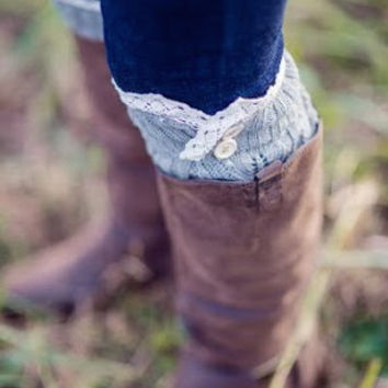 Lace Trimmed Boot Socks