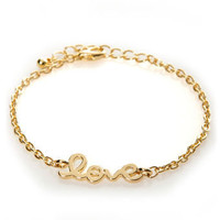 Heart on a String Gold Love Bracelet