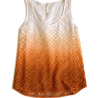 Avelaka Field Tank - Ombre Orange