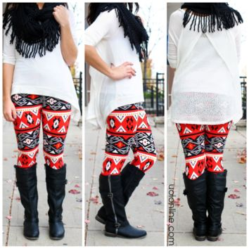 Heat of the Moment Leggings - RED / ONE