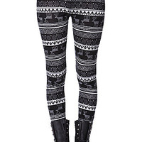 LA Hearts Reindeer Sweater Leggings - Womens Pants - Black