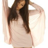 PrettySunday ? Pink batwing Blake mini dress 3148