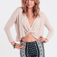 Sharing Secrets Wrap Crop Top