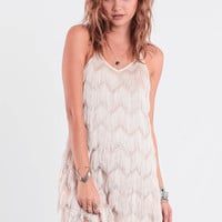 Reckless Love Fringe Dress By JOA