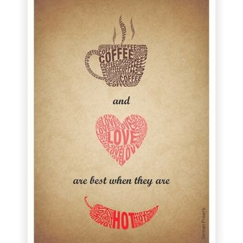 Coffee and Love are best Coffee Shop Wall Decor poster from Lab No. 4