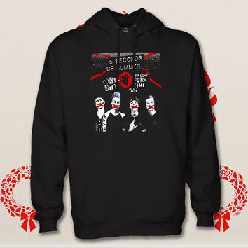 5 second of summer hoodie. pullover. sweatshirt. sweater. color black white green blue gray red for size s - 3xl