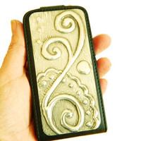 iPhone 4 4G 4S Case Spiral Pewter Design