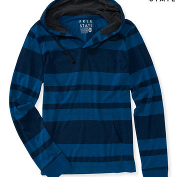 Aeropostale  Free State Striped Hooded Henley