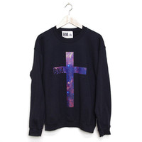 Crew Sweater // Galaxy Cross BMA Large