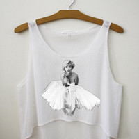 Marilyn Monroe Crop Tank Top