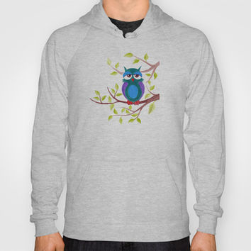 Sleepy owl cartoon Hoody by eDrawings38 | Society6