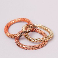 Printed Chain Bracelet in Apricot Gold