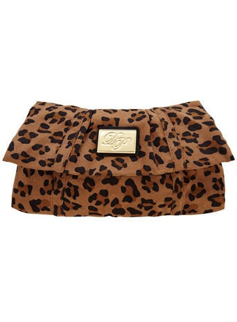 Leopard halfmoon clutch - Bags & Wallets  - Accessories