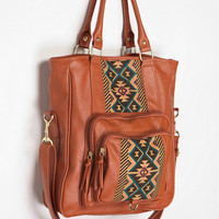 Ecote Pattern-Block Tote Bag