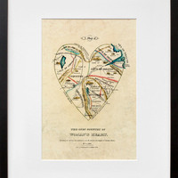 A Map of the Open Country of a Woman&#x27;s Heart, by D.W. Kellogg &amp; Co.  - 20x200