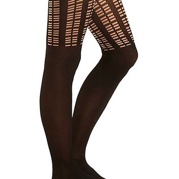 Black Polka Dot Tights by Charlotte Russe - Black