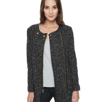 HEATHER PRESTIGE LOOSE SWEATER KNIT COAT by Juicy Couture,