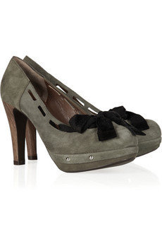 Marni Ribbon-detailed suede pumps - 60% Off Now at THE OUTNET