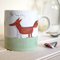 fox and rabbit earthenware mug by julia davey ceramics | notonthehighstreet.com