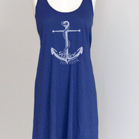 Refuse to Sink Anchor Dress Nautical Beach Coverup