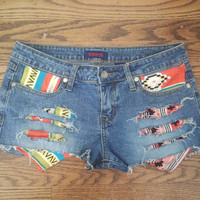 Tribal Distressed Shorts