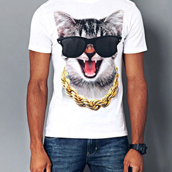 Wild Cat Tee White Small