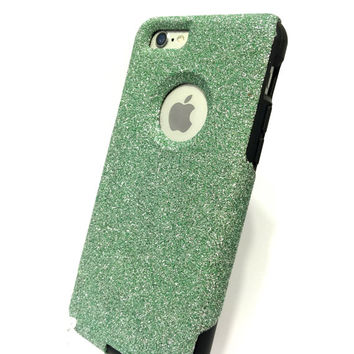 Custom iPhone 6 (4.7 inch) Glitter Otterbox Commuter Cute Case,  Custom  Glitter Teal / Black Otterbox Color Cover for iPhone 6