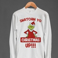 Snatchin Yo Christmas Up-Unisex White T-Shirt