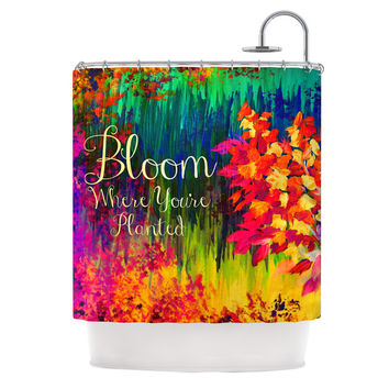 "Ebi Emporium ""Bloom Where You're Planted"" Floral Shower Curtain - 69"" x 70"" / Polyester"