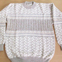Peruvian Design Alpaca Wool Mottled Sweater for Men.