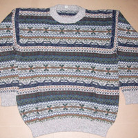 "Peruvian Design Alpaca Wool ""Crewneck 'Cuzco' Sweater "" for Men."