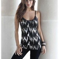 SEQUIN EMBELLISHED CAMI