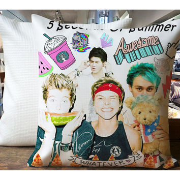 5SOS Second Of Summer Awesome - Housewares , Home Decor , Pillow Case One Side / Two Sides Design